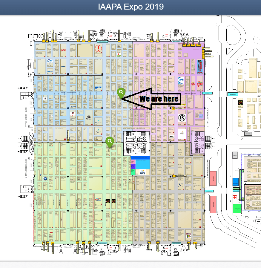 Map of IAAPA Show Floor 2019.